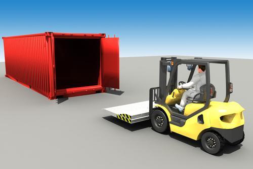 Мостик для погрузки контейнеров