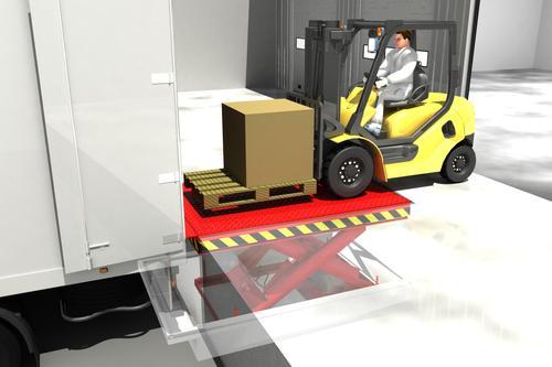 Электрогидравлические ножницевидные платформы для погрузки и разгрузки товаров